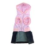 View Image 2 of Striped Monkey Logo Dog Dress - Pink