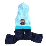 View Image 1 of Striped Monkey Logo Dog Jumper - Blue