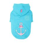 View Image 1 of Sunny Day Dog Hoodie by Pinkaholic - Aqua