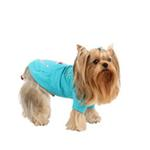 View Image 3 of Sunny Day Dog Hoodie by Pinkaholic - Aqua