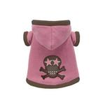 View Image 1 of Super Soft Pink Skull Hoodie by Hip Doggie