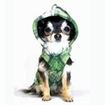 View Image 2 of Super Soft Polar Fleece Dog Hoodie - Green Plaid