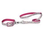 View Image 2 of Super Stars & Bones Dog Leash - Raspberry