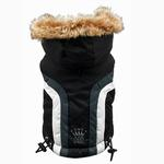 View Image 3 of Swiss Alpine Ski Dog Vest by Hip Doggie - Black