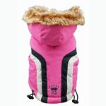 View Image 2 of Swiss Alpine Ski Dog Vest by Hip Doggie - Pink