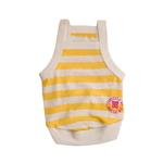 View Image 1 of Team Ruffluv Striped Dog Tank Top - Yellow