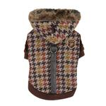 View Image 1 of Tessell  Dog Jacket by Puppia - Brown