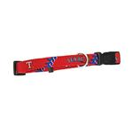 Texas Rangers Baseball Printed Dog Collar - Red