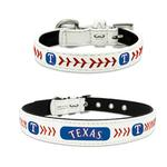 View Image 1 of Texas Rangers Leather Dog Collar