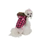 View Image 2 of TGIF Hooded Winter Vest by Puppia - Pink