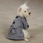View Image 1 of The First Lady Gingham Dog Trench Coat by East Side Collection