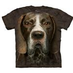 View Image 1 of The Mountain Human T-Shirt - German Shorthaired Pointer Head