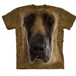 View Image 1 of The Mountain Human T-Shirt - Great Dane Face