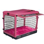 View Image 2 of The Other Door Steel Dog Crate Plus - Pink