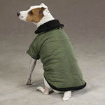 View Image 1 of Thermal Lined Dog Jacket - Chive