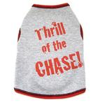 View Image 1 of Thrill of the Chase Dog Tank Top - Gray