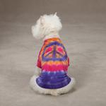 View Image 1 of Tie Dye Peace Sign Dog T-Shirt - Purple