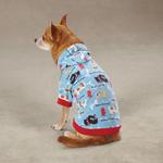View Image 3 of Tough Dog Pullover Dog Hoodie - Blue