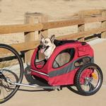 View Image 1 of Houndabout Pet Bicycle Trailer by Solvit - Medium