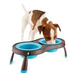 View Image 1 of Traveling Pet Feeder by Popware - Blue
