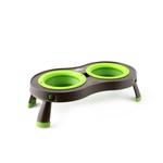 View Image 1 of Traveling Pet Feeder by Popware - Green