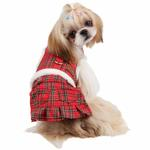 View Image 1 of Trinity Dog Harness Dress by Pinkaholic - Red