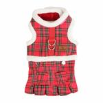 View Image 3 of Trinity Dog Harness Dress by Pinkaholic - Red