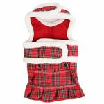 View Image 2 of Trinity Dog Harness Dress by Pinkaholic - Red