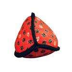 View Image 2 of Tuffy Dog Toys - Ultimate Odd Ball Red Paws