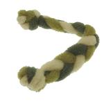 View Image 1 of Twist Braided Dog Tug Toy - Green/Gray