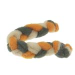 View Image 2 of Twist Braided Dog Tug Toy - Orange