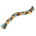 View Image 1 of Twist Braided Dog Tug Toy - Orange