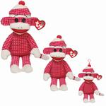 Ty Beanie Buddies - Pink Quilted Sock Monkey