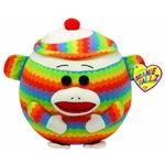 Ty Beanie Ballz - Sock Monkey the Rainbow Large