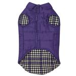 View Image 5 of Ultra Violet Reversible Houndstooth Dog Vest