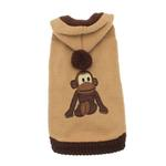 View Image 1 of Monkey Dog Sweater with Hood