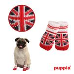 View Image 1 of Union Jack Dog Socks by Puppia - Red