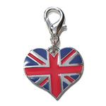 View Image 1 of Union Jack Heart Dog Collar Charm