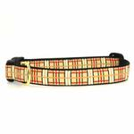 Up Country Tan Plaid Dog Collar