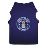 View Image 1 of U.S. Air Force Blue Patch Dog Tank Top - Navy Blue