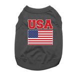 USA Dog Shirt - Black