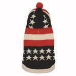 View Image 1 of USA Flag Hooded Dog Sweater by Dogo