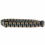 View Image 1 of Utility Clip Dog Collar - Black Stairs