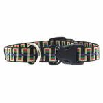 View Image 2 of Utility Clip Dog Collar - Black Stairs