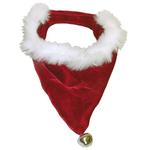 View Image 1 of Velvet Santa Bandana - Red