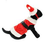 View Image 1 of Velvet Santa Boy Suit w/ Hat & Leash