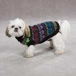 View Image 1 of Warm Hearts Dog Sweater - Black