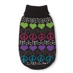 View Image 3 of Warm Hearts Dog Sweater - Black