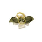 View Image 2 of Wedding Petal Flowers Dog Hair Bow - White