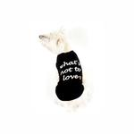 View Image 2 of What's Not to Love Dog Tank Top - Black